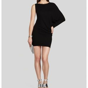 BCBG Max Azria Leheld one sleeve ribbed dress